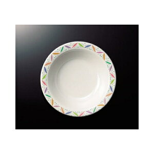 メラミン リーフ 16.5cmスープ皿 (165×36mm・340cc) マンネン/萬年[LE-7819] 業務用 プラスチック製 メラミン製 樹脂製 洋食器 丸深皿 スープ皿 プレート 浅鉢