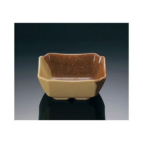 メラミン ハーフトーン 角小鉢 マロン (93×93×38mm・160cc) マンネン/萬年[MN-778] 業務用 プラスチック製 メラミン製 樹脂製 和食器 角小鉢 角鉢 角型小鉢 小付