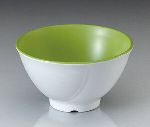 メラミン テラス ライスボール・大 ピクルスグリーン(133×H76mm・500cc) マンネン/萬年[PG-900] 業務用 プラスチック製食器 割れない安全なメラミン樹脂
