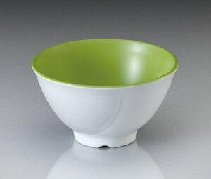 メラミン テラス ライスボール・中 ピクルスグリーン(124×H69mm・410cc) マンネン/萬年[PG-901] 業務用 プラスチック製食器 割れない安全なメラミン樹脂