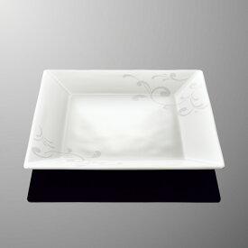 メラミン オーベルジュ 22cm角平皿 (220×220×H26mm) アラベスク [E111AQ] マルケイ 業務用 食洗機対応 割れにくい 丈夫 プラスチック食器