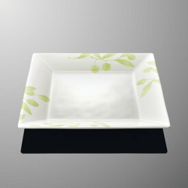 メラミン オーベルジュ 22cm角平皿 (220×220×H26mm) オリーブ [E111OL] マルケイ 業務用 食洗機対応 割れにくい 丈夫 プラスチック食器