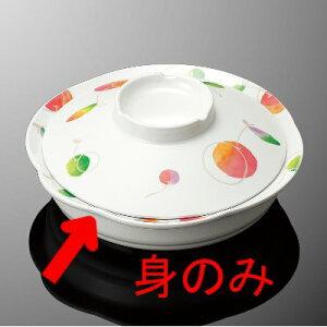 メラミン 丸深皿 小 直径166mm H40mm 470cc 身(ふたは別売り) さくらんぼ コモン[S73BSRB] マルケイ 業務用 食洗機対応 割れにくい 丈夫 業務用 プラスチック 樹脂 食器 皿 D8