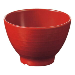 メラミン 汁椀 直径102mm H69mm 300cc 粒赤・C ミナモエコ[B39TRC] マルケイ 業務用 食洗機対応 割れにくい 丈夫 業務用 プラスチック 樹脂 食器 皿 D8