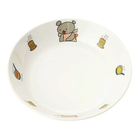 ※2個セット※メラミン子供用食器 こぐまちゃん 深菜皿 (167×35mm・470cc) マルケイ[D17KO] 業務用 プラスチック製 保育園・幼稚園向け