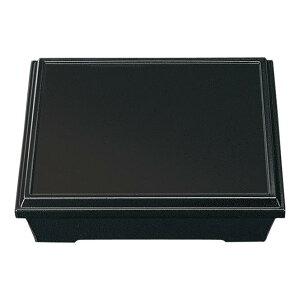 高耐熱ABS スタックボックス 直径265mm H66mm 黒[F25B] マルケイ 業務用 松花堂弁当箱 スタッキング弁当箱 重ねられる弁当箱 配食容器 E3