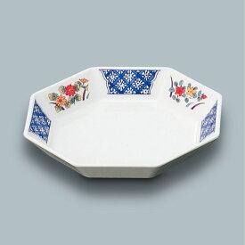 メラミン製 ふる里 八角皿 (160×160×H30)三信化工[M-101 FYA] 食器 メラミン プラスチック製 業務用食器 樹脂製 和食器 皿