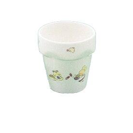 強化磁器製子供用食器 ふしぎらんど(パワーセラ) ミルクカップ (75×77mm・180cc) 三信化工[YC-13FU] 業務用 保育園・幼稚園向け