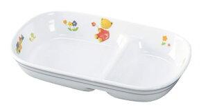 子供用食器 べあ〜(高強度磁器) 角仕切皿 (172×109×31mm) 信濃化学/SHINCA[BE-19] 業務用 保育園・幼稚園向け