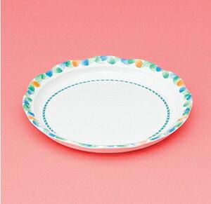 メラミン製 介護 自助食器 デュオ 18cm丸皿 スリーライン[AID-101] 食器 介護用 自助用 プラスチック製 皿 プレート 器 病院・施設