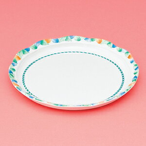 メラミン製 介護 自助食器 デュオ 20cm丸皿 スリーライン[AID-102] 食器 介護用 自助用 プラスチック製 皿 プレート 器 病院・施設