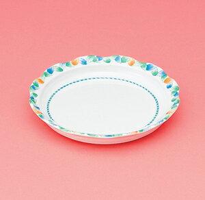 メラミン製 介護 自助食器 デュオ 16.5cm 丸皿 スリーライン[AID-103] 食器 介護用 自助用 プラスチック製 皿 プレート 器 病院・施設