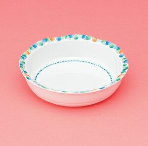 メラミン製 介護 自助食器 デュオ 16.5cm 深皿 スリーライン[AID-112] 食器 介護用 自助用 プラスチック製 皿 プレート 器 病院・施設