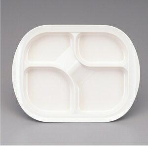 メラミン製 自助食器 ランチプレート 仕切り皿(ナチュラルアイボリー) スリーライン[M-302NI] 食器 皿 ユニバーサル 介護用 病院 福祉 プラスチック製