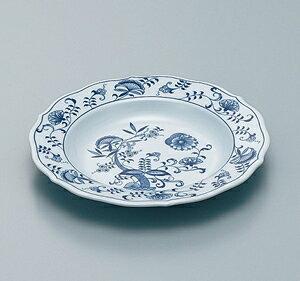 メラミン製 ブルーロイヤル 23cm スープ皿 スリーライン[ND-101/ND-101RY] 食器 皿 プレート 洋食器 プラスチック製 樹脂製 カフェ 飲食店 ホテル