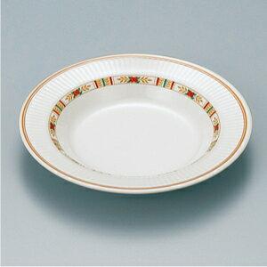 メラミン製 ハーモニーローズ スープ皿 スリーライン[RL-201] 食器 皿 プレート 洋食器 プラスチック製 樹脂製 業務用 カフェ 飲食店 ホテル