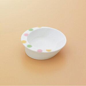 メラミン製 自助食器 小鉢(水玉) スリーライン[M-357A] 食器 皿 ユニバーサルデザイン 介護用 病院 福祉 プラスチック製