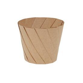 ※代引不可※送料無料 使い捨て容器 紙皿 おりがみカップ  大 茶 20個入/袋×10袋(1ケース200個入り)