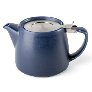 FORLIFE アーティザンスタンプ ティーポット 909 インディゴ (530cc) ステンレスの茶こし付き。落ち着いた大人のカラー。ルイボスティー 紅茶 日本茶 ウーロン茶など ルーズリーフから大きな茶