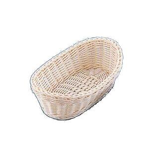 製パン用品・パンスタンド・パンかご お菓子作り・道具 30cm 樹脂バスケット 舟形 白 30cm (8-1107-0701)