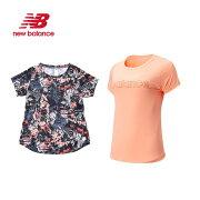 NEWBALANCEニューバランスNBRCグラフィックショートスリーブTシャツAWT91137レディースランニングウェア吸汗速乾NBDRY半袖