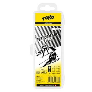 TOKO トコ Performance 固形 ワックス ブラック 120g 5502018 ホットワックス 汚雪 人工雪 レギュレーション対応 スノーボード スキー ウィンタースポーツ メンテナンス 冬 アルペン 雪山 チューンナ