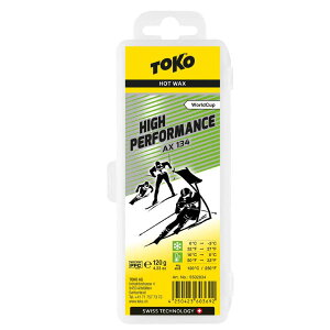 TOKO トコ High Performance ワックス AX134 120g 5502034 高フッ素含有 レーシングワックス 高温多湿 適応雪温0〜-3C 適応気温10〜0C スノーボード スキー ウィンタースポーツ メンテナンス 冬 アルペン