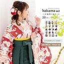 (袴3点セット 華やか B) 袴セット 卒業式 袴 セット 女性 20colors はかま 振袖 レトロモダン 着物 コスプレ 小学生 …