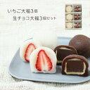バレンタインギフト:生チョコ大福3個・いちご大福3個セット | 白あん 大粒苺 母の日 ギフト 京都 和菓子 銘菓 取り寄…