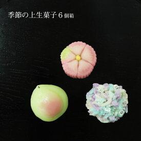 【父の日ギフト】季節の上生菓子6個箱【冷凍発送】冷凍品以外と同梱不可