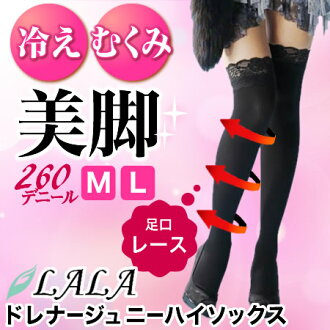 d4fs3gmLALA Grant Drainage ( drainage ) macaron Knee-Hi Socks knee high socks
