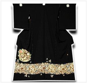 【手縫い仕立て付き】 本加賀友禅 「巨匠 柿本市朗」作 唐獅子柄 最高級 黒留袖