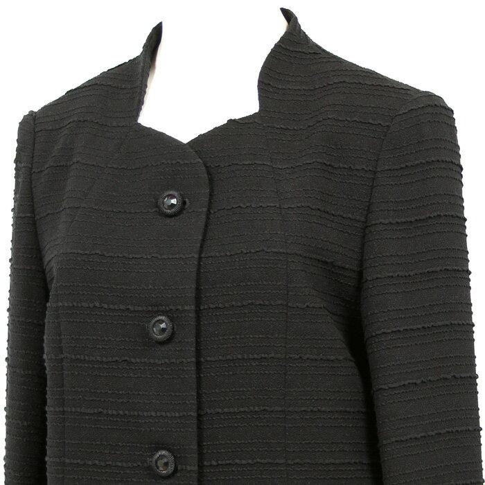 【国産 ブラックフォーマル 2点セット 喪服 礼服 スーツ ミセス ブラックフォーマル レディース フォーマルスーツ】【送料無料】7t135(9号・11号・13号・15号)【日本製】【smtb-k】【ky】