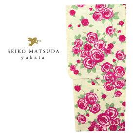 【浴衣 レディース】 松田聖子 ゆかた クリーム バラ 薔薇 女性 浴衣 かわいい yukata フリーサイズ