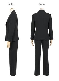 【ブラックフォーマル】喪服女性/レディース┃ブラックフォーマルアンサンブルスーツ【100t013】