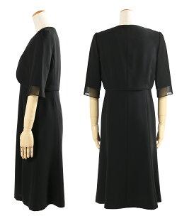 【365日あす楽対応】ブラックフォーマルレディース喪服女性礼服フォーマルスーツアンサンブル大きいサイズ授乳対応前開きワンピースかわいいセレモニースーツブラックフォーマル20代30代40代7号〜35号T013