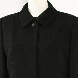 日本製 ブラックフォーマル レディース /喪服 女性/礼服/アンサンブル フォーマルスーツ ミセス ワンピース 7503(13号)