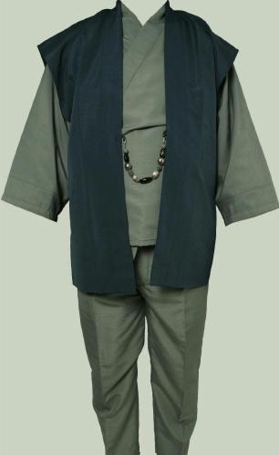 【京都祇園 一粋庵】男物お洒落 和装スーツ 紳士 着物 袴パンツ セミオーダー【smtb-k】【ky】【RCP】