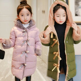 子供服コート 女の子 中綿ジャケット キルティング 韓国子供 裏ボア 防寒 ジャケット アウター 女児 ファーコート 暖かい かわいい キッズコート 綿入れコート