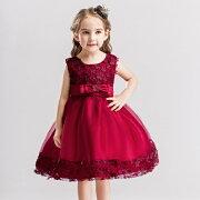 素敵なドレス子供ドレスピアノ発表会プリントドレス女の子二次会花嫁ジュニア結婚式キッズドレス子供服フォーマル