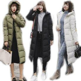 コート ダウンコート レディース 中綿 コート ダウンジャケット 2018冬 40代 カジュアル 中綿 ダウンコート ロング丈 軽い 暖かい 大きいサイズ アウター 5色