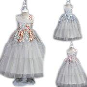 子供ドレスピアノ発表会ロング子どもドレスフォーマル七五三ジュニアドレス紫シャンパングレー白赤ピンク120130140150160170子供ドレス