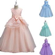 子供ドレスピアノ発表会ロング子どもドレスフォーマル七五三ジュニアドレス紺紫シャンパングレー白赤ピンク120130140150160170
