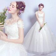 ウェディングドレスエンパイア二次会ドレス花嫁ドレス大きいサイズパーティーロングドレス演奏会イブニングドレスカラードレス成人式
