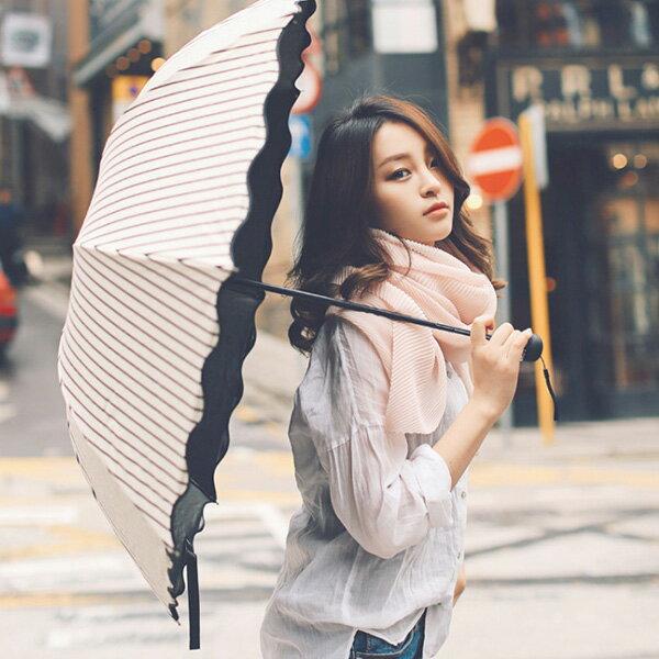 日傘 晴雨兼用 軽量 UVカット 折りたたみ傘 100% 遮光 遮熱 完全遮光 折り畳み 傘 レディース ボーダー柄日傘 遮熱効果 UVカット 紫外線対策