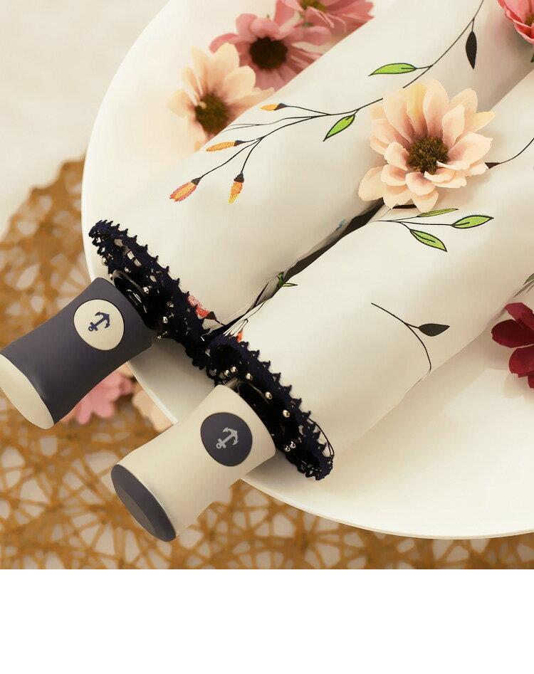 手書き風花柄日傘 晴雨兼用 軽量 UVカット 折りたたみ傘 100% 遮光 遮熱 完全遮光 折り畳み 傘 レディース 遮熱効果 UVカット 紫外線対策 花柄 自動開閉
