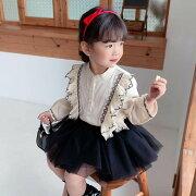 韓国子供服女の子ワンピースドレス子供ワンピースワンピースマキシ丈ロング超可愛いキッズ海へおしゃれシフォンマキシワンピース