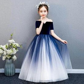 2019新着 子供ドレス ピアノ発表会 ジュニアドレス ふんわりチュール 演奏会 結婚式 キッズ こども コンクール 子供服 女の子 フォーマル