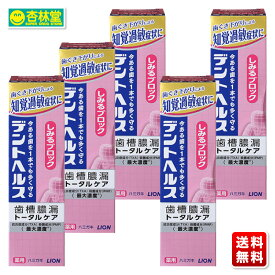 【医薬部外品】 ライオン デントヘルス 薬用ハミガキ しみるブロック 85g ×5個 | 歯周病予防 歯みがき