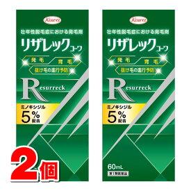 【第1類医薬品】 興和新薬 リザレックコーワ 60mL ×2個   壮年性脱毛症 発毛剤 ミノキシジル5%配合